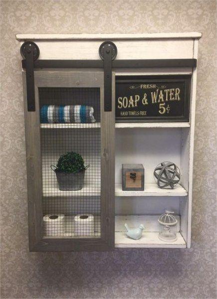 Bathroom shelf above toilet rustic 46+ ideas   – •• BATHROOM •• – #bathr…   – most beautiful shelves