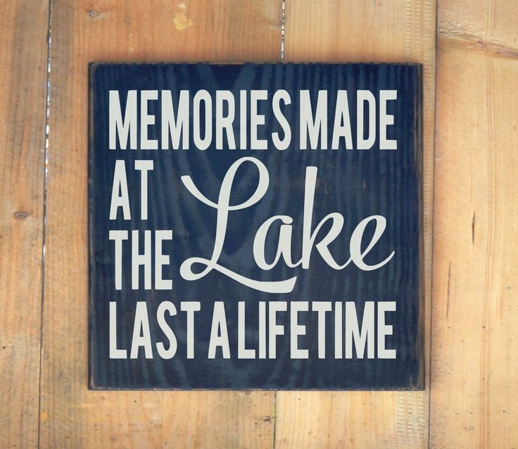Lake House Decor Rustic Lake Sign Memories Made At The