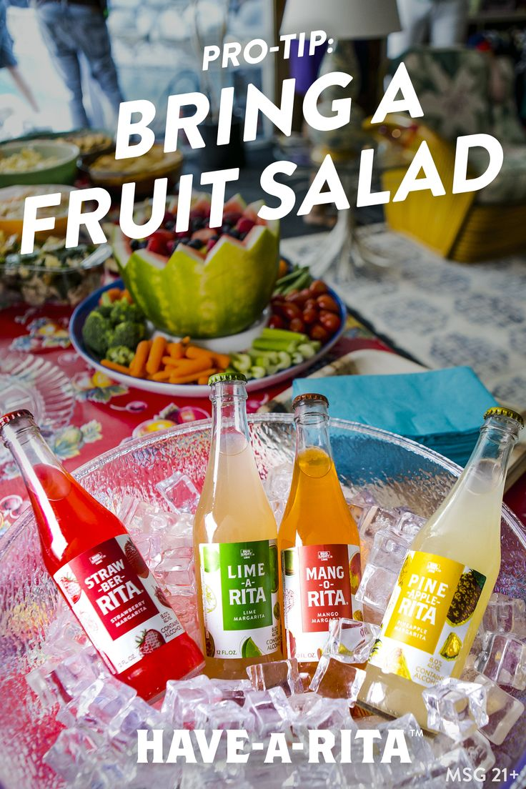 Here's an easy fruit salad recipe that is sure to be a crowd pleaser! It's easy. Grab a punch bowl, keep cool, grab the NEW glass Ritas and party! #HAVEARITA #Mix #Cool #Frozen #Simple