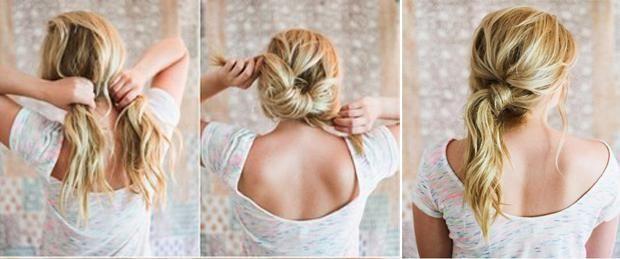 Свободный хвост для длинных волос