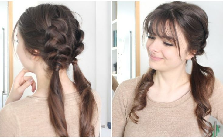 Quick & cute braided hairstyle for rushed mornings