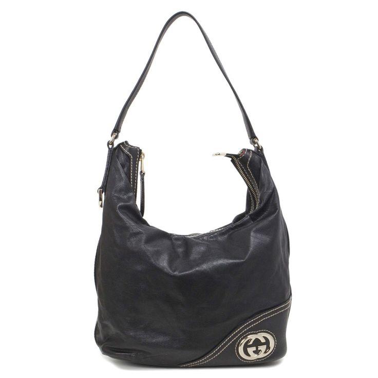 Gucci Black Leather Britt Hobo Bag - modaselle