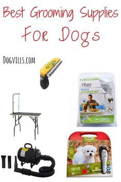Head to to the dog grooming shop? Pick up some of our favorite dog grooming supplies to tame your pup's wild fur!