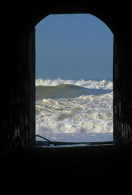 sea storm after the tunnel, cavi di lavagna. liguria