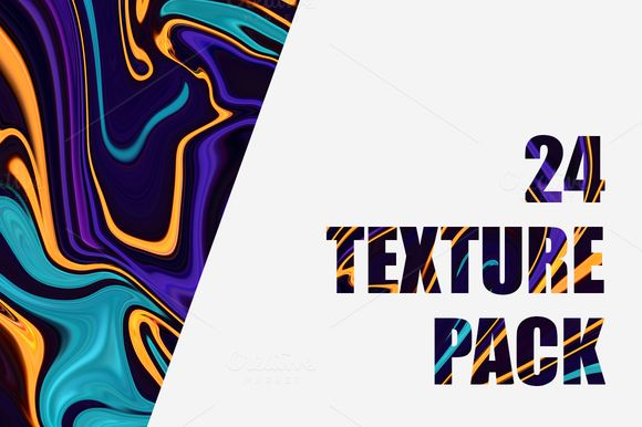 24 Liquify Texture Pack by SNK's on @creativemarket