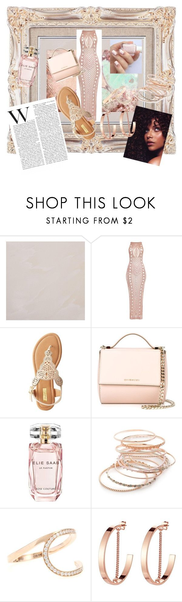 """""""Maxi Dress"""" by girlie87 ❤ liked on Polyvore featuring Qupid, Givenchy, Elie Saab, Red Camel, Repossi and Jenny Bird"""