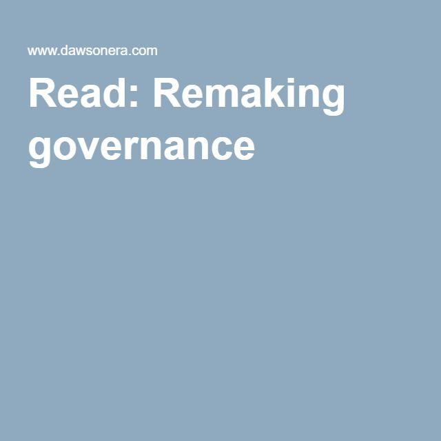 Read: Remaking governance