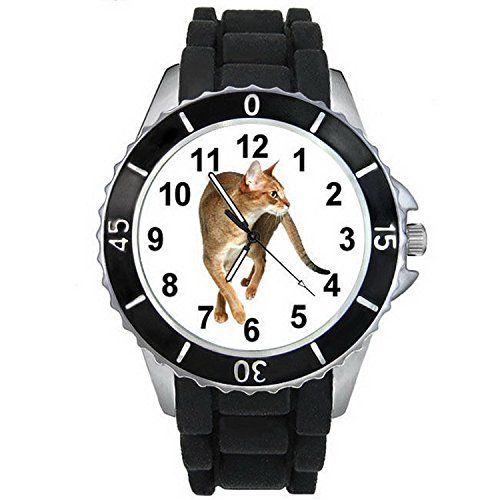 BMSC137 Chausie Kitten Cat Mens Ladies Fashion Black Jelly Silicone Wrist Watch >>> Learn more by visiting the image link.(This is an Amazon affiliate link and I receive a commission for the sales)