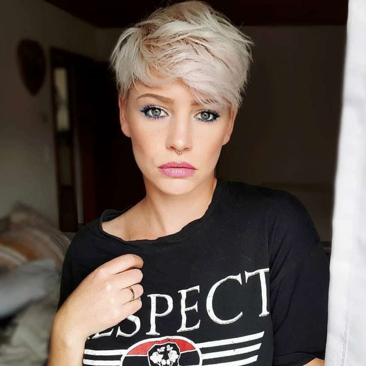 Petite blonde milf short hair