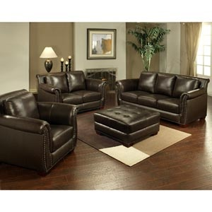 Costco rustic living rooms and family rooms on pinterest for Costco leather living room sets