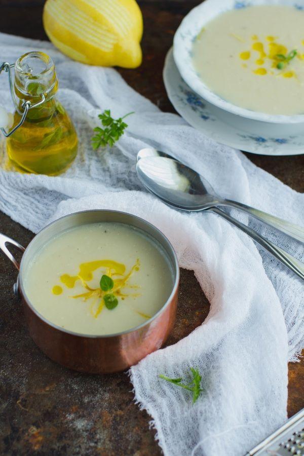 Zupa krem z kalafiora z cytryną