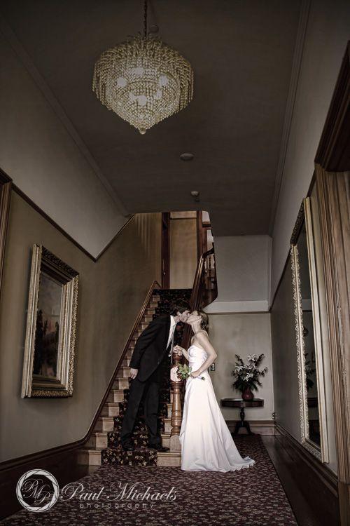 Gear homestead stairway. Wedding photographer, Wellington, New Zealand. http://www.paulmichaels.co.nz