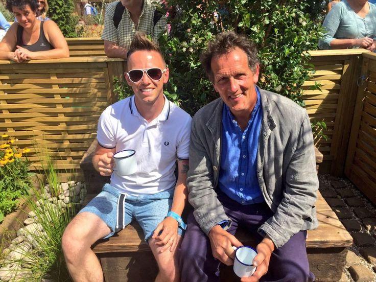 Garden Ninja award winning garden designer at Hampton Court #gardenninja #montydon #gardendesign #showgarden