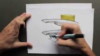 product design rendering and sketching by product tank - YouTube