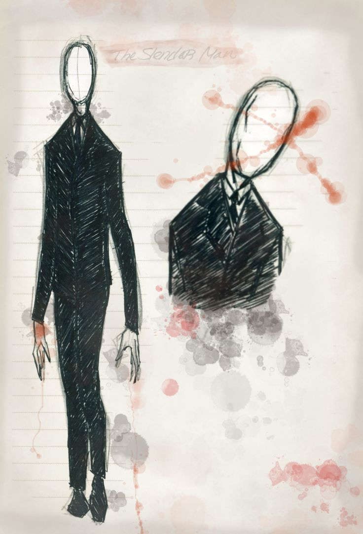 Slender Man - color by Dark-Eyed-Junco