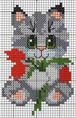 Kanaviçe (Etamin) Kedi Şablonları
