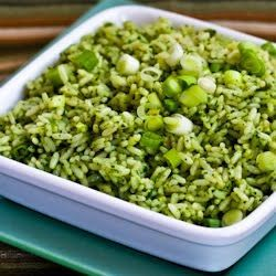 Ginger-Cilantro Rice with Scallions & Sesame