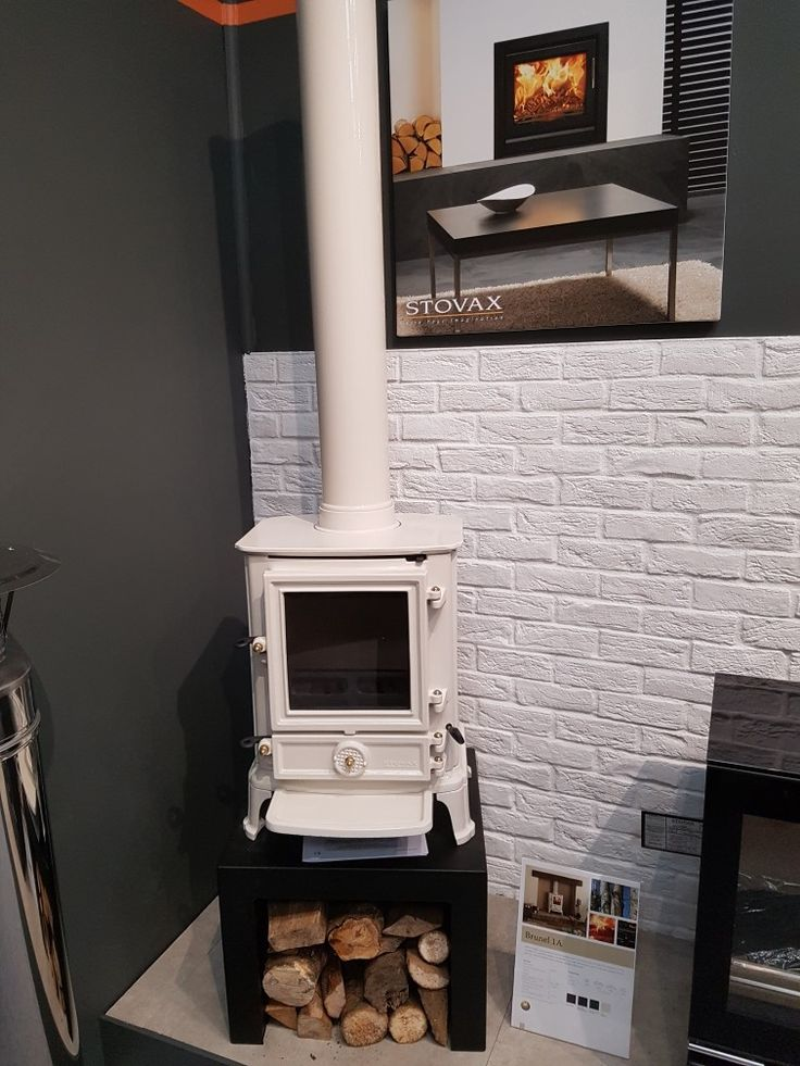Stovax Brunel 1A Ivory Wood burning stove