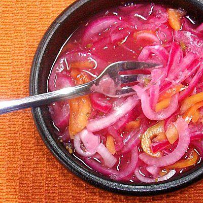 Salsa yucateca de chile habanero
