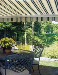 Compare the cost of installing a deck awning  yourself with hiring an installer.