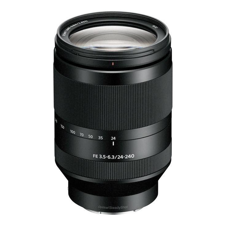 A EF 24-240mm f / 3,5-6,3 OSS Lente de Sony é uma full-frame-compatível lente zoom telefoto E-mount Com a versatilidade de esticar a partir de verdadeira grande angular até telefoto perspectivas super.