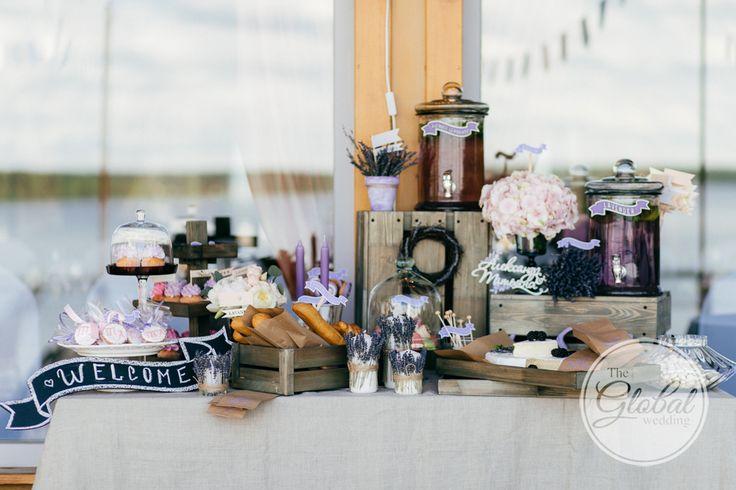 Лавандовая свадьба Декор и флористика Сладкий стол Lavanda wedding Wedding decor Candy bar