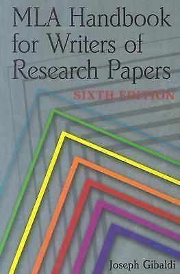MLA Handbook For Writers Of Research Papers SIXTH EDITION Joseph Gibaldi #Textbook