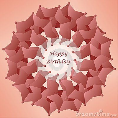 #Flower shaped #happy #birthday #card (#vector #illustration)