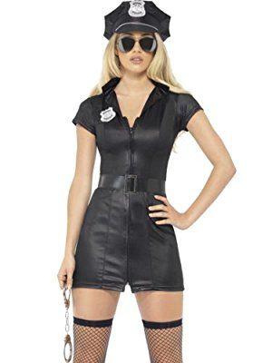 Sexy Polizistin Kostüm Gr.M - Hot Cop Girl - verführerisches Kostüm für Damen - Fasching Karneval Mottoparty