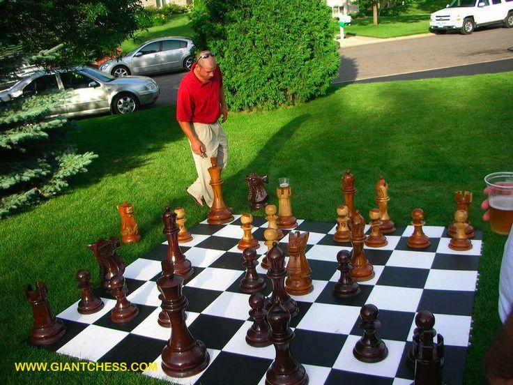 Giant Chess Mat For A Graduation Party Yard GamesBackyard