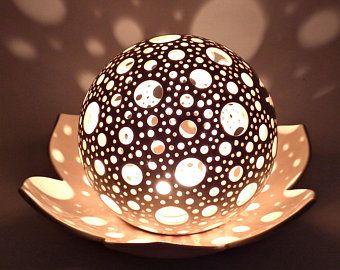 Gut Lotus Kerze Laterne Hochzeit Tisch Herzstück Keramik Windlicht Lotus Blume  Dekor Yoga Meditation Kerze Teelicht Halter