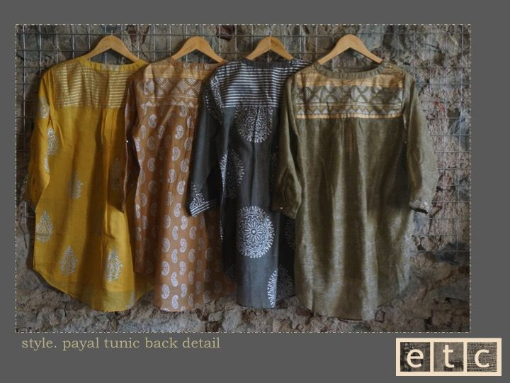 Natural Dyes | Payal tunic | back view