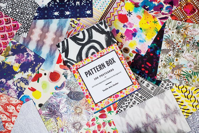The Pattern Box – 100 Postcards by 10 Contemporary Pattern Designers; Curated by Textile Arts Center