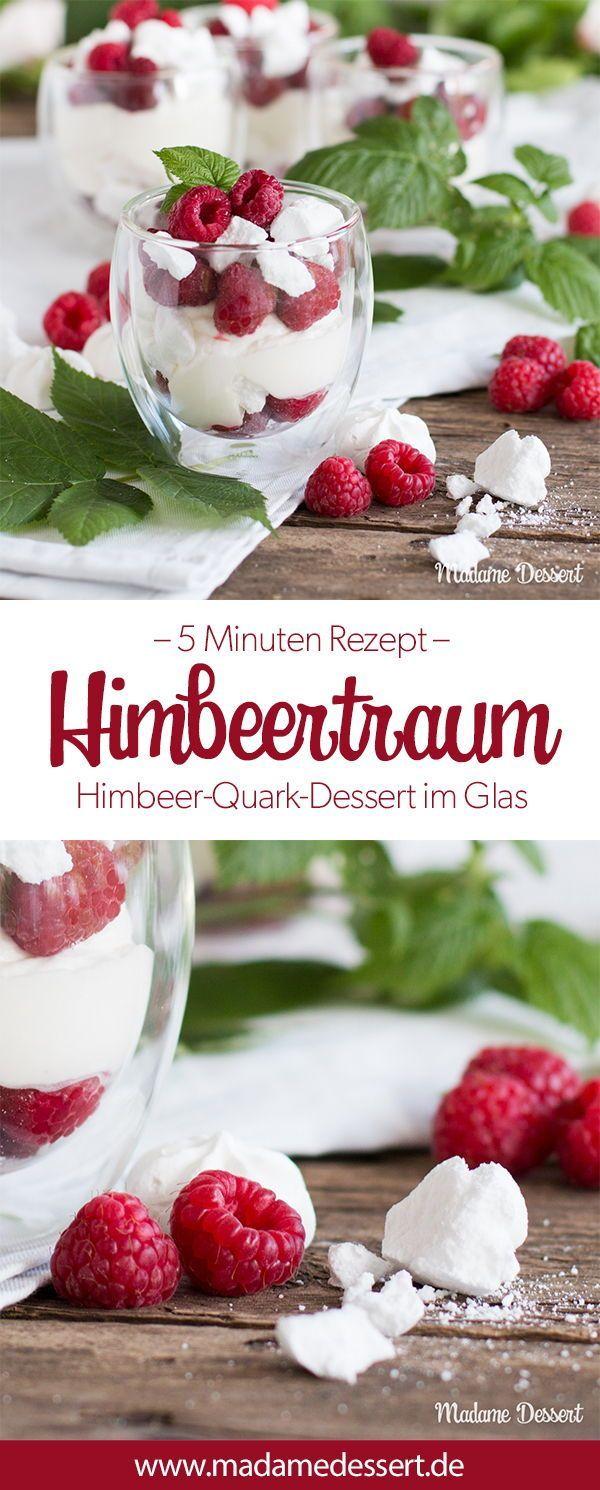 Himbeertraum – Himbeer-Quark-Dessert im Glas