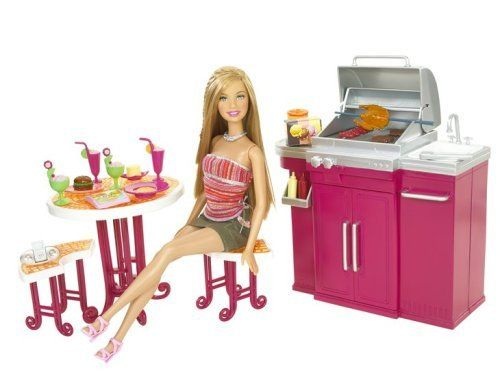 Barbie my house barbecue doll by mattel from for Art cuisine evolution 10 piece cooking set
