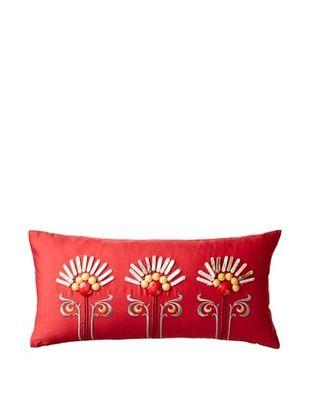 50% OFF Echo Jaipur Oblong Pillow, Red