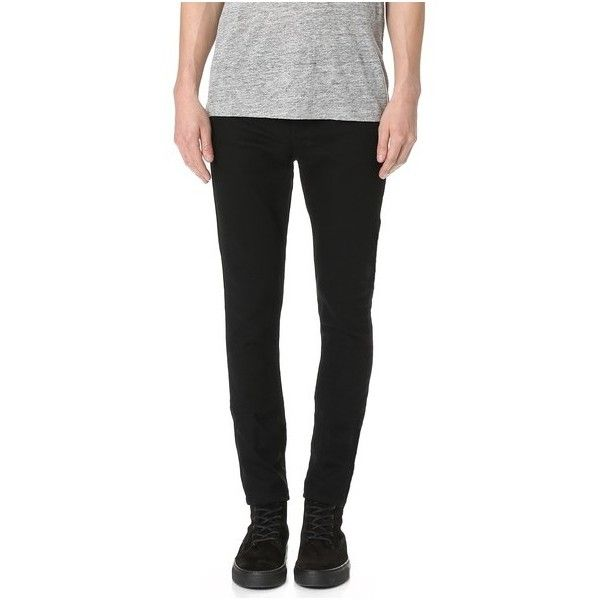Ksubi Chitch Taper Jeans (845 RON) ❤ liked on Polyvore featuring men's fashion, men's clothing, men's jeans, laid black, mens slim tapered jeans, mens slim fit jeans, mens button fly jeans, mens slim jeans and mens tapered jeans