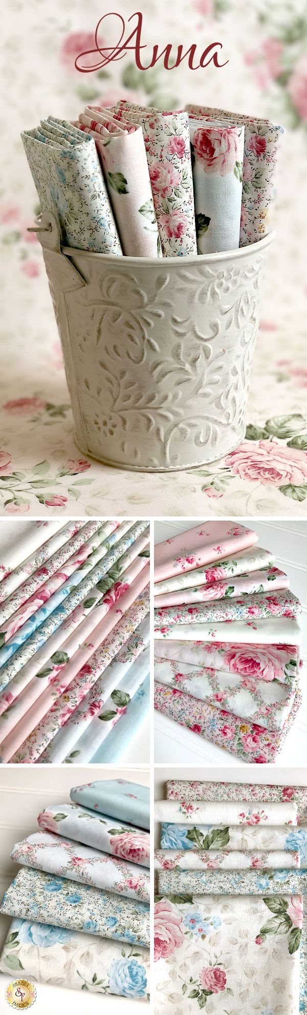 Anna by Robert Kaufman Fabrics is a beautiful floral fabric collection available at Shabby Fabrics!