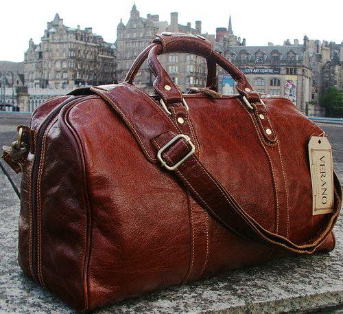 *NEW LEATHER ITALIAN DUFFLE WEEKEND TRAVEL FLIGHT SHOULDER BAG HOLDALL MENS GIFT | eBay