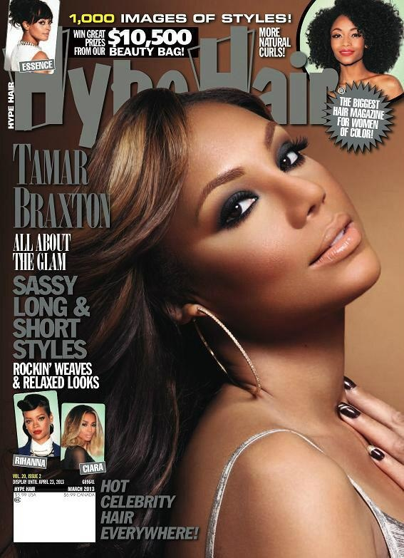 Tamar Braxton-March 2013 Cover - Hype Hair Magazine. She looks great...hair, makeup, everything!