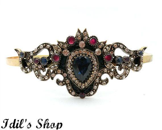 Turkish Ottoman Style Vintage Inspired Bridal Tiara by IdilsShop