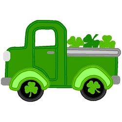 Old Shamrock Truck Applique - 3 Sizes! | Featured Products | Machine Embroidery Designs | SWAKembroidery.com