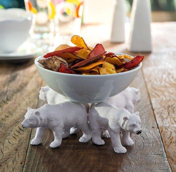 Em vez de prato com pé, que tal um bowl com 16 patas?