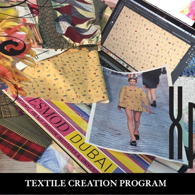 Create The Fabrics Of Your Collections Standout Be Different Signup For Our Textile Creation Program Call 971 4 429 122 Fashion Degrees School Fashion Fashion Design
