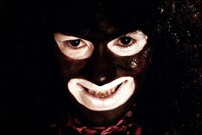 """""""Hello, Dave...you're my wife now""""   The scary and sinister Papa Lazarou (Reece Shearsmith) in the brilliantly dark comedy League of Gentlemen"""