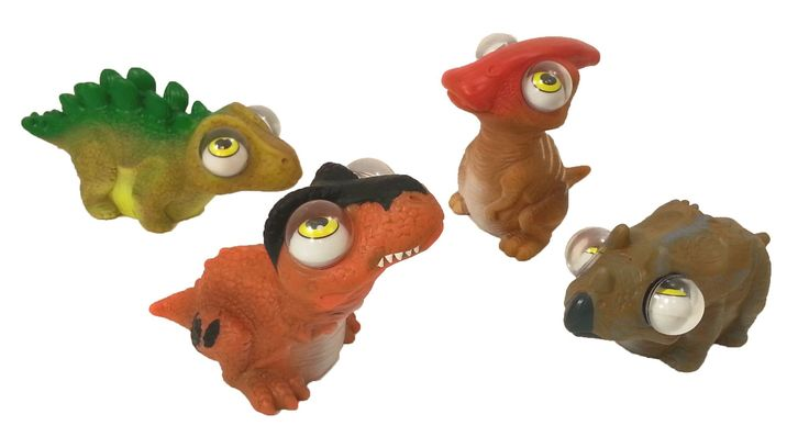Dino PopEyes Figures - Dinosaur Toys Set of 4 by GeoCentral