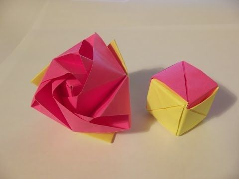 Origami roos-kubus (Anne) - YouTube