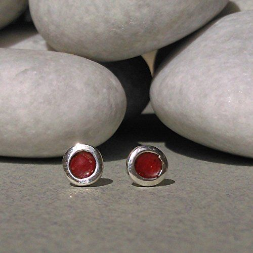 Amazon.com: TINY STUD EARRINGS/sterling silver stud earrings/enamel earrings/spring jewelry/handmade earrings/women gift/girl gift/ tiny studs.: Handmade