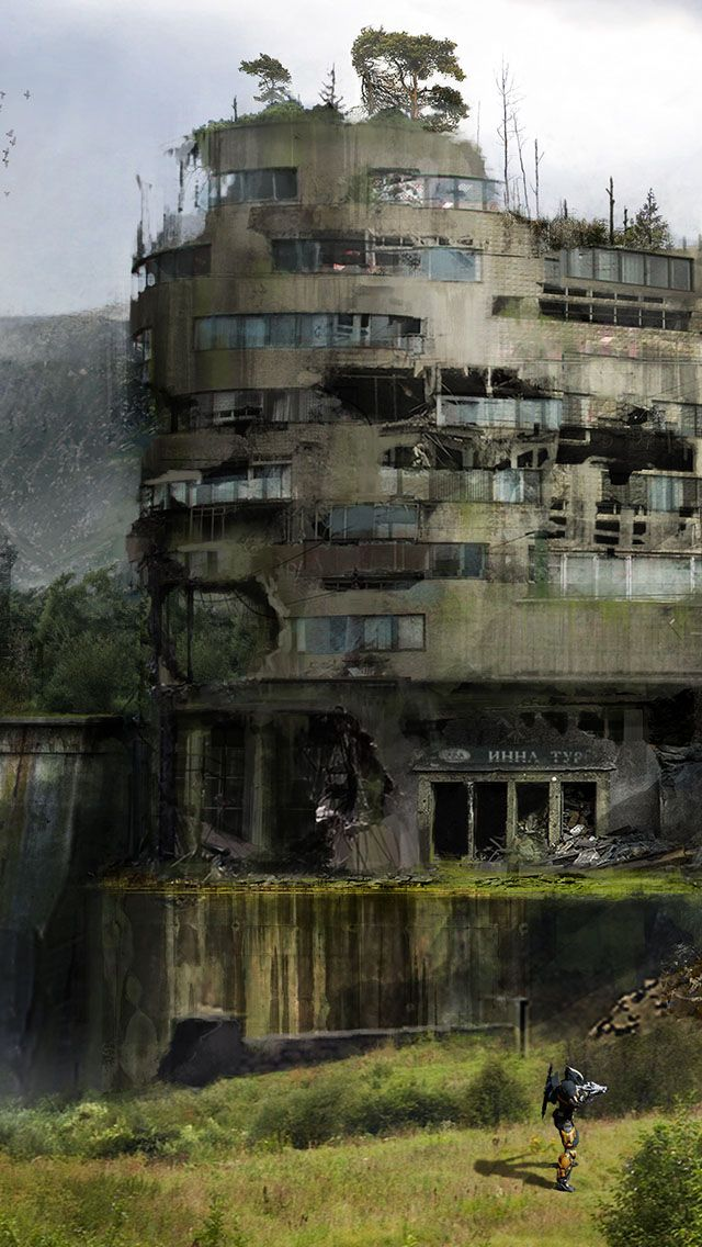 scouting the ruin | #cyberpunk #scifi #darkfuture #bravenewworld