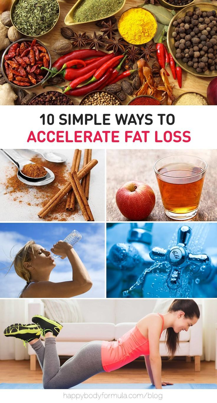 From apple cider vinegar to cold showers, we go over 10 Simple Ways To Accelerate Fat Loss - fitness, diet, weight loss tips.